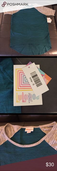NWT Teal/Gray S Lularoe Irma Brand new size small Lularoe Irma. Only worn once to try on, tags still attached. Nothing is wrong with this, it was just the wrong size for me. LuLaRoe Tops