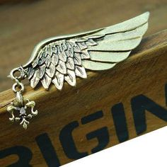 Angel Wing Brooch -Copper