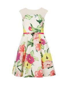 Floral printed dress - Cream | Dresses | Ted Baker UK