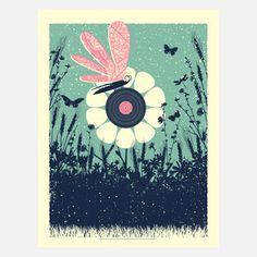 Summer Music Art Print now featured on Fab.
