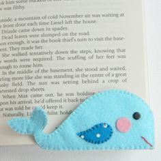Make a Felt Whale Bookmark | Guidecentral                                                                                                                                                                                 More