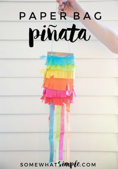 "Cinco de Mayo Kids Craft - Kick your party up a notch on the ""fun meter"" with these simple paper bag pinatas!"