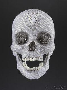 Paddle8: Cráneo con cenicero y Limón - Damien Hirst