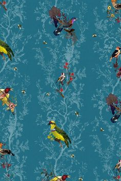 Timorous Beasties Wallcoverings - Birds n Bees