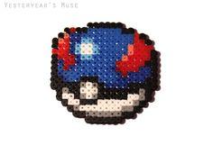 Hama beads - Pokemon Great Ball Sprite