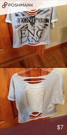 Casual shirt Very cute wide neck and cute when worn with a tight tank underneath Tops Tees - Short Sleeve