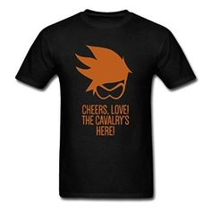 Amazon com Lkui Overwatch Tracer Cheers Love Retail Men 39 s T Shirt Forest green XX Large Clothing
