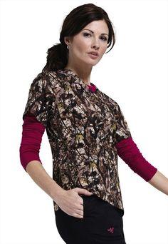 Med Couture by Peaches Natural Disguise womens print scrub top. - Scrubs and Beyond #scrubs #uniforms #nurse