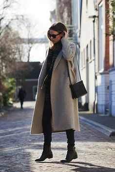 Christine R. - Cos Coat, Céline Large Trio Bag, Johnstons Scarf - Winter basics