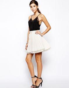 Image 1 ofJones and Jones Pleated Layer Mini Skirt