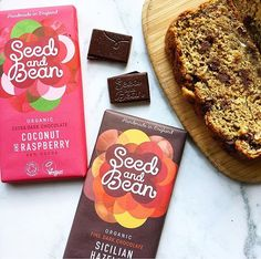 Guilt free vegan chocolates that look good, taste good and DO good!! @seedandbeanchocolates MUST try these two flavours- coconut raspberry AND hazelnut + vegan banana bread =heaven ❤️ Don't forget to check our link in our Bio for a wider range of flavours ☺️  Yummery - best recipes. Follow Us! #veganfoodporn
