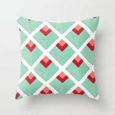 Squares Vintage pattern Throw Pillow