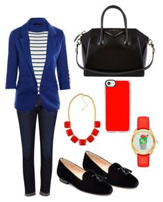 """""""Clothes in University N°1"""" by jana-jarockaja on Polyvore featuring AG Adriano Goldschmied, Ralph Lauren, Kate Spade, Givenchy, Jon Josef and Casetify"""
