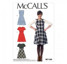 Patron Mc Call's M7188:  Robe Taille: 34-42