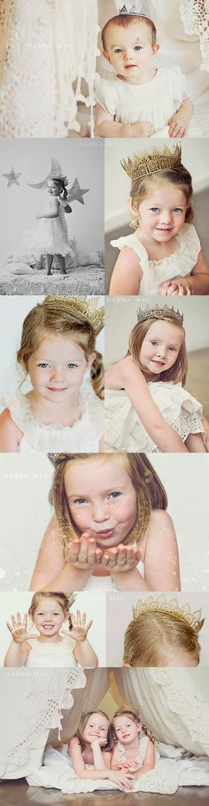 HANNA MAC » Glitter and lace crowns. Match crown and glitter color. Cute!