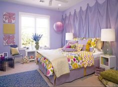 Girls bedroom. My kids will have big rooms and closets.