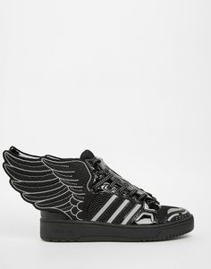 Image 1 of adidas Originals by Jeremy Scott Black 2.0 Mesh Wing High Top Sneakers
