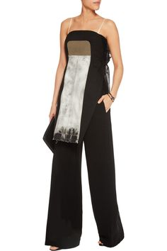 Denim-paneled mesh and cotton tunic | Rick Owens | US | THE OUTNET