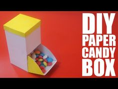How to make a paper candy box - DIY Candy box - YouTube