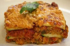 Really good vegan lasagna. I added a shredded carrot to the quinoa part and a few layers of spinach when assembling. Awesome!