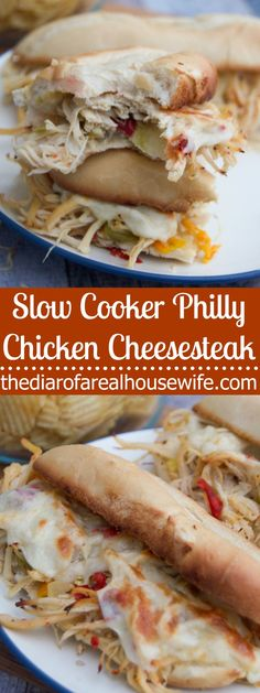 Newest Screen Slow Cooker Philly Chicken Cheesesteak - The Diary of a Real Housewife Style Today I am going showing you making the classic membership sandwich. That double decker meal is usi Easy Crockpot Chicken, Chicken Steak, Keto Crockpot Recipes, Slow Cooker Recipes, Cooking Recipes, Chicken Cooker, Crockpot Meals, Chicken Wraps, Easy Recipes