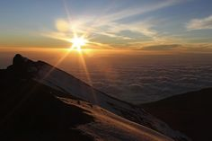 Sunrise at the top of kilimajaro
