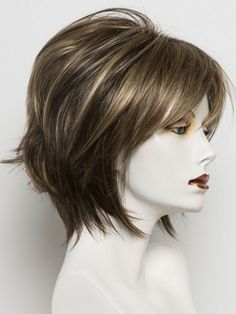 CHOCOLATE FROST R   Dark Brown Base with Honey Blonde and Platinum highlights with Dark Brown roots