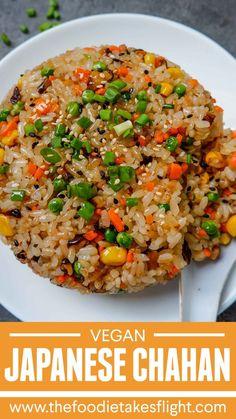 Rice Recipes Vegan, Vegan Foods, Whole Food Recipes, Cooking Recipes, Healthy Recipes, Vegan Rice Dishes, Vegan Fried Rice, Egg Fried Rice Recipe Easy, Veggie Asian Recipes