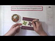 cardmaking video: Quilt Card ... cute pinwheels and embossing folder lattice texture ... measurements and other useful hints ... wonderful card! ... Stampin'Up!