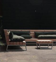 Robuuste loungebank voor in de tuin | Meubelmakerij | Houtkwadraat | Stoer spul