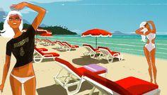 Plage de la Cote d'Azur....reépinglé par Maurie Daboux ❥•*`*•❥