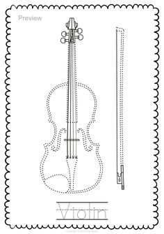 String Instruments Trace and Color Page Music Class, Music Education, Viola Instrument, Early Music, String Art Patterns, Elementary Music, Teaching Music, Music Lessons, Music Notes