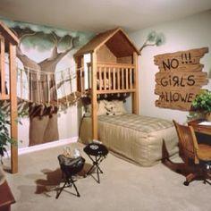 "Cutest little boys ""fort/treehouse"" room idea"