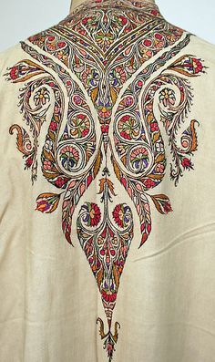 Middle East, tunic, embroidered silk, 20th c