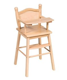 Another great find on #zulily! Natural Doll High Chair by Guidecraft #zulilyfinds
