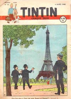 Les Dupondts a Paris, 1948 Hergé. I love TinTin!!