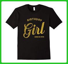 Mens 43rd Birthday Girl Made in 1974 Shirt 43rd Bday Gift Tee 2XL Black - Birthday shirts (*Amazon Partner-Link)