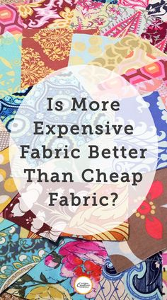 Most beginning quilters have one of two competing mindsets about fabric: either they want to be frugal (like our quilting ancestors) and plan to use the least expensive fabric they can find, or they want to create something that lasts centuries (like our quilting ancestors) so they use the most expensive fabric in the store. Both viewpoints are valid, but neither one should take hold of any quilter's entire quilting career. It all depends on each quilt's final destination. Quilting Fabric, Quilting Tutorials, Quilt Making, Frugal, Sewing Projects, Fiber, Career, Felt, Quilts