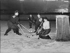 You can see above four men playing hockey during WW2. This is credible because it was taken during the war and the website it's on is a real, legit website. Despite WW2 going on, Canadians still embraced their culture and continued on living, as we can see in the photo. The men played hockey, a Canadian sport, because it was close to their hearts.