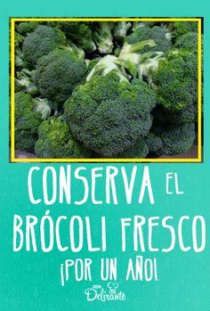 Brocolli, Good To Know, Life Hacks, Lunch, Vegetables, Cooking, Tips, Fresco, Freezer