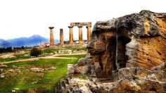 The site features the imposing temple of Apollo, the ancient agora, the step from which Saint Paul addressed the Corinthians and much more! #Corinth #Peloponnese #Greece #Monterrasol #travel #privatetours #customizedtours #multidaytours #roadtrips #travelwithus #tour #landscape #nature #architecture #mountains #summer #summertime #beauty #beautiful #tourism #thisisgreece #destination #bible #corinthians #religion #faith #StPaul #Apostle #newtestament #temple #Apollo #SaintPaul #speech #rock City State, Corinthian, Ancient Greece, Day Tours, Mount Rushmore, Summertime, Travel Destinations, Tourism, Road Trip