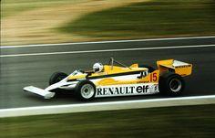 Alain Marie Pascal Prost (FRA) (Equipe Renault Elf), Renault RE30 - Renault-Gordini EF1 1.5 V6 (t/c) (RET) 1981 British Grand Prix, Silverstone Circuit © Renault Sport F1 / John Millar | Source: Fickr