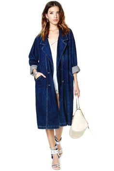 Eastland Denim Coat #overcoat #feminino #INDIGOCONFORT #indigos #jeanswear #bluejeans #FocusonJeans® #FocusTextil