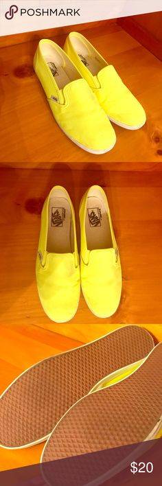 FLASH SALE ⚡ Vans Slip-Ons Neon Yellow Slimmer style in a bright neon 68aee1a3b