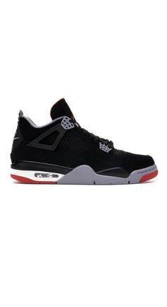 47f6f04188e Nike Air Jordan 4 Bred Retro IV Size 10.5 2019 Black Cement Red 308497-060