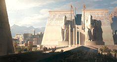 ArtStation - Ptah Temple of Memphis, Raphael Lacoste