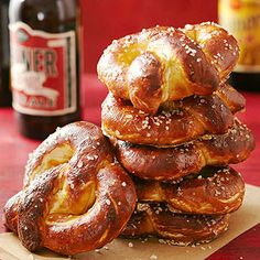 Soft Pretzels From Better Homes and Gardens, ideas and improvement projects for your home and garden plus recipes and entertaining ideas.