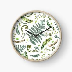 Clock Spring, Ferns, Clocks, Decorative Plates, Finding Yourself, My Arts, Art Prints, Printed, Awesome