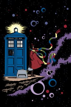 Doctor Who Retro style comic book poster. $15.00, via Etsy.