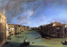 Giovanni Antonio Canal (called Canaletto),Grand Canal: Looking Northeast From The Palazzo Balbi To The Rialto Bridge oil painting reproductions for sale